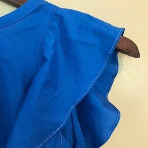 Anthropologie Tops - HD Paris Royal Blue Flutter Sleeve Top Size 8